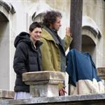 Anne Hathaway and Hugh Jackman film Les Miserables on location in London 111781