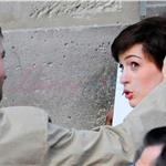 Anne Hathaway with short wig shoots One Day with Jim Sturgess in Paris  67939