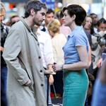 Anne Hathaway with short wig shoots One Day with Jim Sturgess in Paris  67942