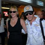 "Antonio Banderas Melanie Griffith in Argentina to promote his new men""s fragrance Blue Seduction 15580"