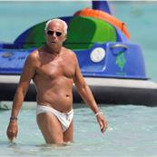 Giorgio Armani in brief swim trunks on holiday in Spain July 2010  65725