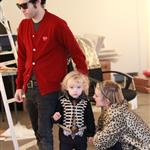 Ashlee Simpson and Pete Wentz at a friend's store in LA with Bronx  78577