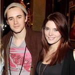 Reeve Carney and Ashley Greene pose backstage at Spider-Man:Turn Off the Dark'  95601