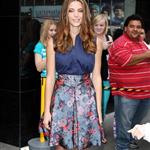 "Ashley Greene posing for photographs after her appearance at ""Good Afternoon America"" in New York City 124240"