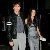 Ashton Kutcher and Demi Moore leaving Saturday Night Live Afterparty 19371