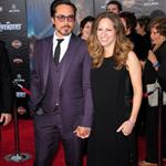 Robert Downey Jr and wife Susan at LA premiere of The Avengers 111110