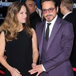 Robert Downey Jr and wife Susan at LA premiere of The Avengers 111111