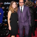 Robert Downey Jr and wife Susan at LA premiere of The Avengers 111112
