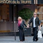 Chad Kroeger and Avril Lavigne hold hands in Paris 126232
