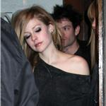 Avril Lavigne and Deryck Whibley leaving Madeo 57271