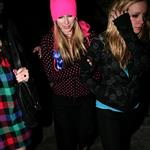 Avril Lavigne in a pink toque leaving a club in LA 35853