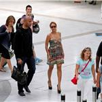 Beyonce at the Nice airport in massive heels 88597