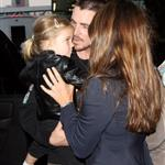 Christian Bale, wife, and daughter Emmaline leaving LA 22667