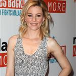 Elizabeth Banks in striped Prada wedges at Malaria No More event  83425