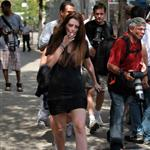 Mischa Barton shooting The Beautiful Life in New York 44660