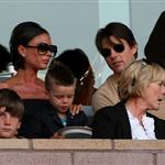 David Beckham loses his cool at LA Galaxy vs AC Milan match while Victoria Beckham and Tom Cruise look on 43168