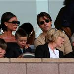 David Beckham loses his cool at LA Galaxy vs AC Milan match while Victoria Beckham and Tom Cruise look on 43156