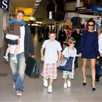 Victoria and David Beckham return to LA with their sons after celebrating their 10th anniversary 42844