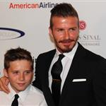 David Beckham with Brooklyn at the 27th Anniversary Sports Spectacular 115104