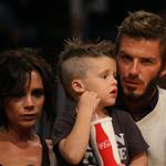 The Beckhams at the Laker game 49796