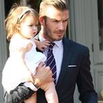 David Beckham and Harper Beckham seen at 202 Restaurant in Notting Hill 121769