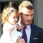 David Beckham and Harper Beckham seen at 202 Restaurant in Notting Hill 121770