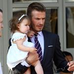 David Beckham and Harper Beckham seen at 202 Restaurant in Notting Hill 121771