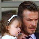 David Beckham and Harper Beckham seen at 202 Restaurant in Notting Hill 121773