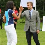 Michelle Obama and David Beckham celebrate Nickelodeon joins Let's Move for 'Let's Move London' event at the American Ambassadors Residence in London 121869