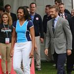 Michelle Obama and David Beckham celebrate Nickelodeon joins Let's Move for 'Let's Move London' event at the American Ambassadors Residence in London 121871