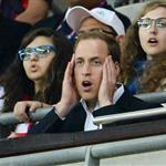 Prince William, David Beckham and his children watch on during the Men's Football first round Group A Match between Great Britain and United Arab Emirates on Day 2 of the London 2012 Olympic Games at Wembley Stadium  121877