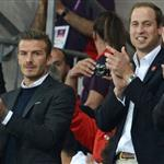 Prince William, David Beckham and his children watch on during the Men's Football first round Group A Match between Great Britain and United Arab Emirates on Day 2 of the London 2012 Olympic Games at Wembley Stadium  121880
