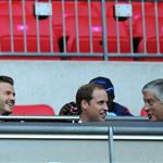 Prince William, David Beckham and his children watch on during the Men's Football first round Group A Match between Great Britain and United Arab Emirates on Day 2 of the London 2012 Olympic Games at Wembley Stadium  121885