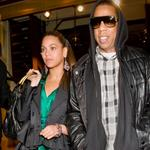 Beyonce leaving with Jay-Z after dinner at Cipriani last night 26481