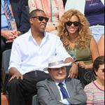 Jay-Z and Beyonce watch French Open final June 2010  62683