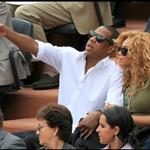 Jay-Z and Beyonce watch French Open final June 2010  62687