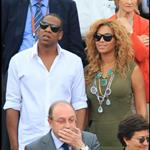 Jay-Z and Beyonce watch French Open final June 2010  62694