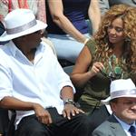Jay-Z and Beyonce watch French Open final June 2010  62695