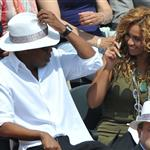 Jay-Z and Beyonce watch French Open final June 2010  62696