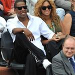 Jay-Z and Beyonce watch French Open final June 2010  62697