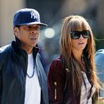 Beyonce in 6 inch heels with Jay-Z lunch at Pastis before heading to Rocawear  36230
