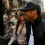 Beyonce in 6 inch heels with Jay-Z lunch at Pastis before heading to Rocawear  36226