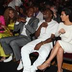Beyonce, Jay-Z, Kanye West and his girlfriend last night at the BET Awards 119430