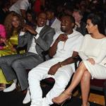 Beyonce, Jay-Z, Kanye West and his girlfriend last night at the BET Awards 119434