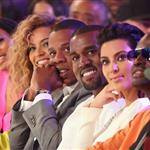 Beyonce, Jay-Z, Kanye West and his girlfriend last night at the BET Awards 119435