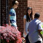 Selena Gomez with Justin Bieber at his grandparents' house in Stratford, Ontario 86625