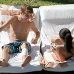 Justin Bieber and Selena Gomez on vacation in Mexico  100201
