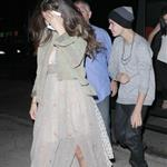 Justin Bieber and Selena Gomez go to a show in West Hollywood 124276