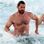 Hugh Jackman at the beach the other day 120783