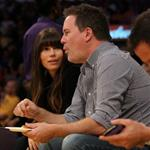 Jessica Biel attends a Los Angeles Lakers vs the Boston Celtics Game at the Staples Center in Los Angeles 109532